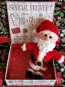 Toy Santa Crochet Pattern: #12WeeksChristmasCAL Week 12