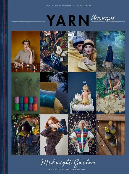 Scheepjes: YARN, Midnight Garden This beautiful bookazine includes 15 stylish designs for crochet, knitting and sewing projects. Be inspired