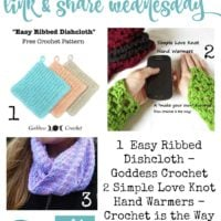 Ribbed Dishcloth, Hand Warmers & Skate Cowl