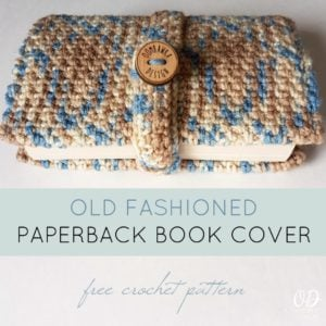 Old Fashioned Paperback Book Cover Crochet Pattern