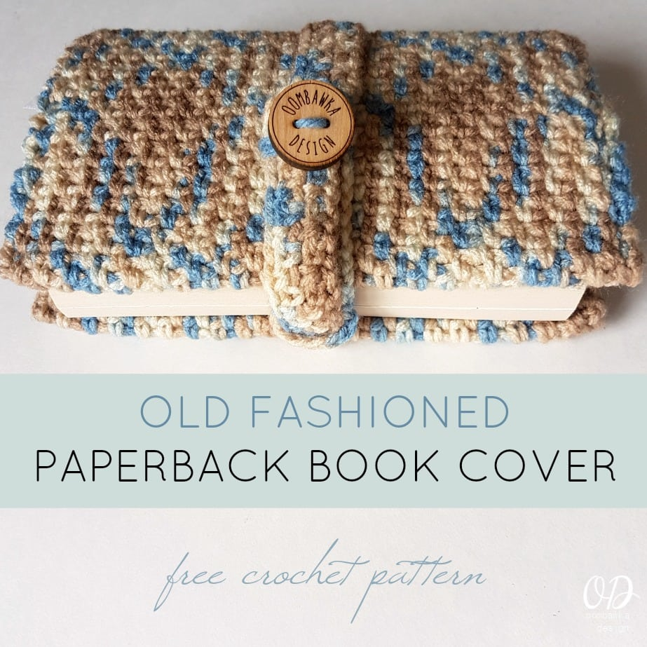 Felt Book Cover Pattern ~ Old fashioned paperback book cover oombawka design crochet