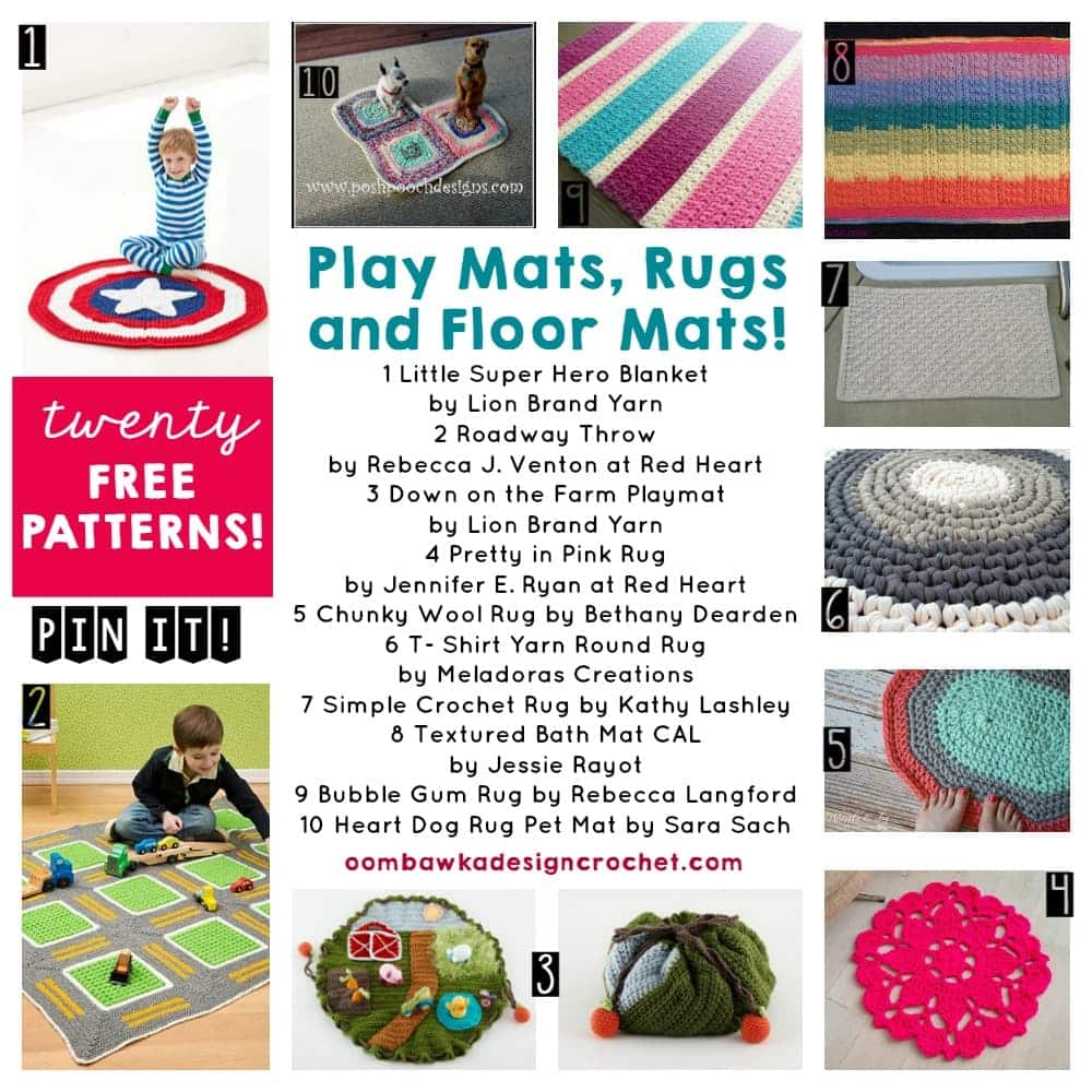 20 Free Patterns for Play Mats Rugs and Floor Mats