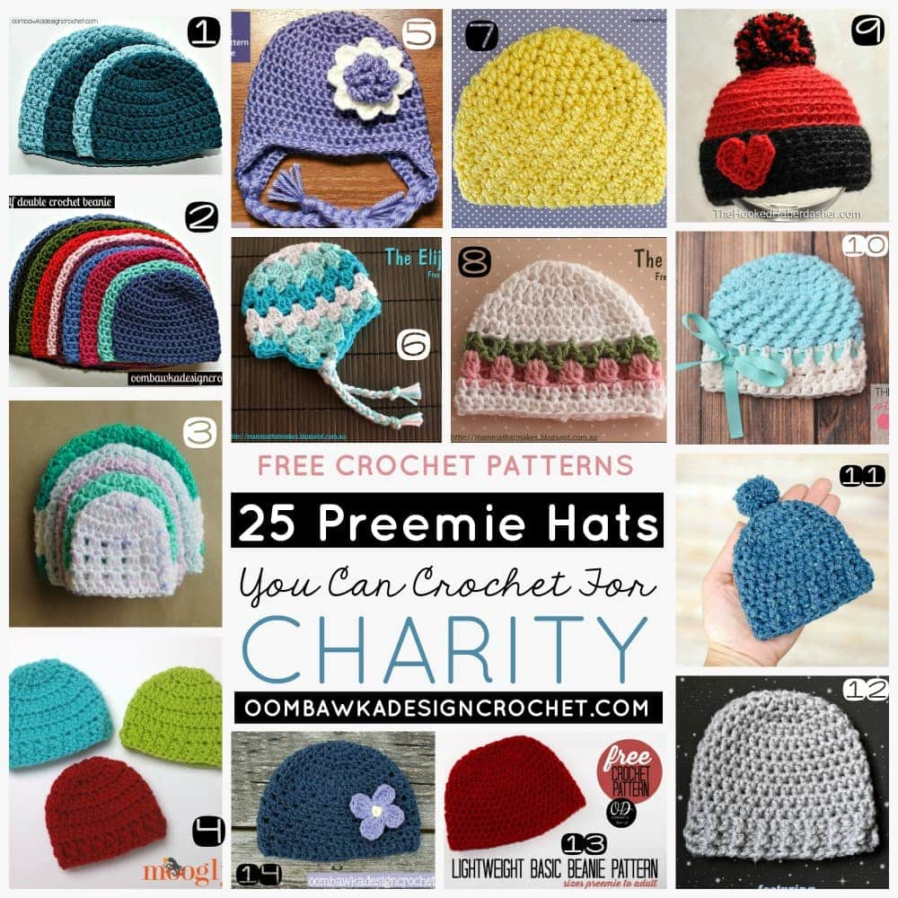 25 Preemie Hats You Can Crochet For Charity • Oombawka Design Crochet 6664c766561