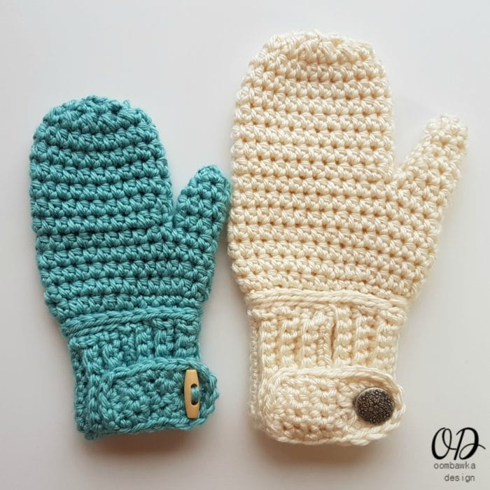 Easy-On Mittens • Oombawka Design Crochet