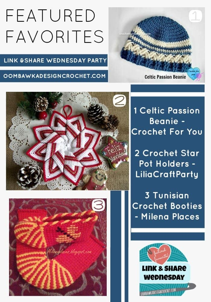 FEATURED FAVORITES CROCHET STAR POTHOLDERS CELTIC BEANIE AND TUNISIAN SLIPPERS