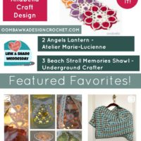 Beautiful Flower Coasters, a Memories Shawl and an Angel Lantern