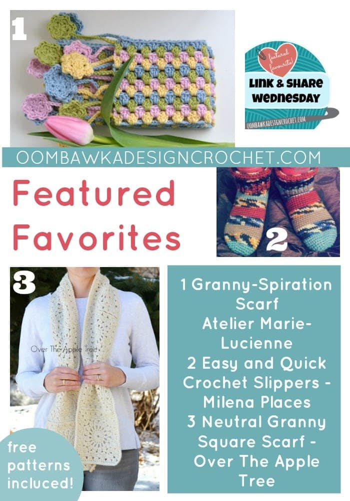 FEATURED FAVORITES Link and Share Wednesday Party Free Crochet Patterns Included Oombawka Design Crochet