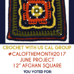 June Afghan Square CAL Begins Today #CALOFTHEMONTH2017