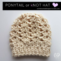 Ponytail or Knot Hat
