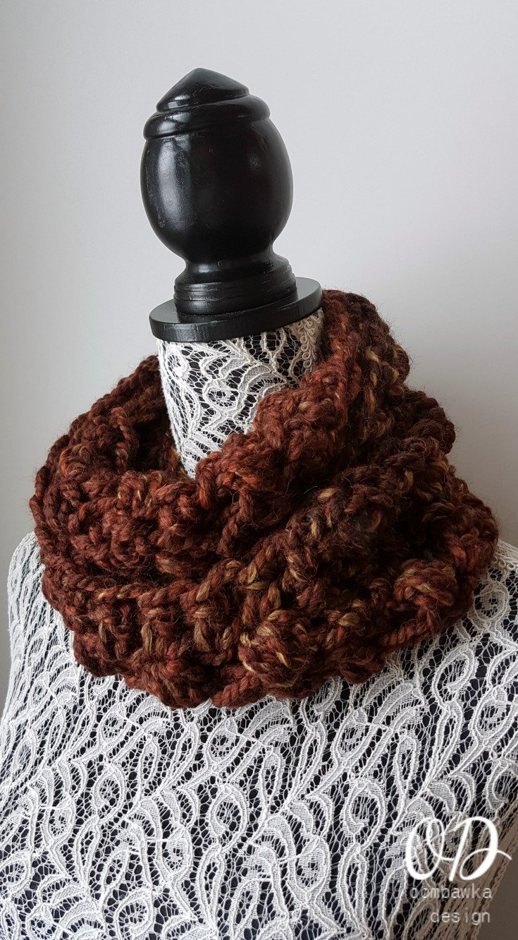 Quick 1 Skein Bulky Infinity Scarf - Stashbuster Project 1