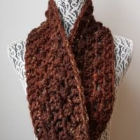 Quick 1 Skein Super Bulky Infinity Scarf - Stashbuster Project 1