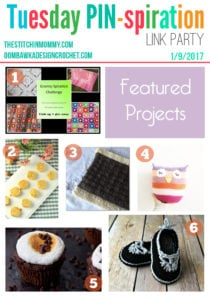 Featured Favorites at the Tuesday PIN-spiration Link Party include free crochet and knit patterns, sweet and savory treats!