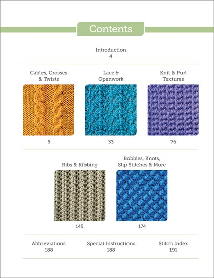 Categories - The Big Book of Knit Stitches From Martingale