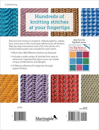 Back Cover The Big Book of Knit Stitches From Martingale