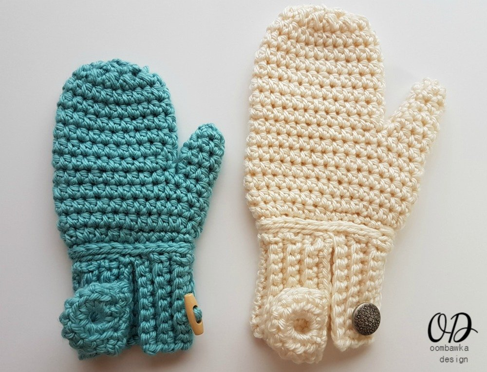 Easy On Mittens Oombawka Design Crochet