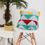 I Like Crochet FEBRUARY Bold Blocks Pillow