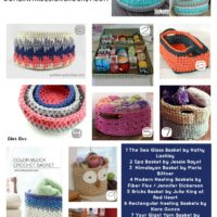 20 Free Patterns for Crocheted Baskets