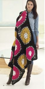 Pine Bluff Mandala Afghan - Mindful Mandala Afghans - Lion Brand Yarn Design Team and Leisure Arts