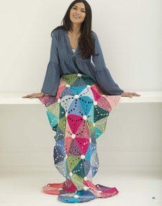 Wheel of Fortune Mandala Afghan - Mindful Mandala Afghans - Lion Brand Yarn Design Team and Leisure Arts