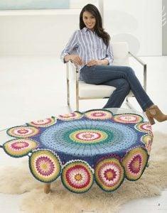 Circle of Flowers Mandala Afghan - Mindful Mandala Afghans - Lion Brand Yarn Design Team and Leisure Arts