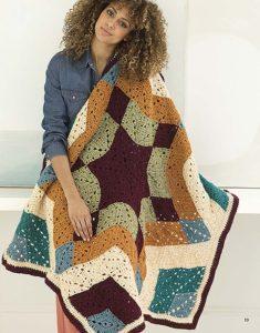 Ozark Star Mandala Afghan - Mindful Mandala Afghans - Lion Brand Yarn Design Team and Leisure Arts