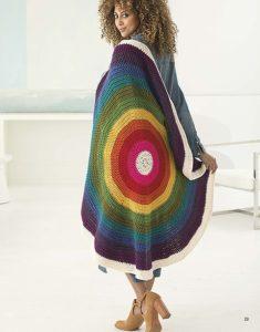 Rainbow Mandala Afghan - Mindful Mandala Afghans - Lion Brand Yarn Design Team and Leisure Arts