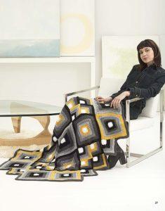 Rockwell Mandala Afghan - Mindful Mandala Afghans - Lion Brand Yarn Design Team and Leisure Arts