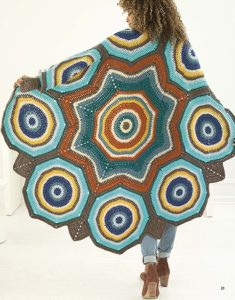 Star Mandala Afghan - Mindful Mandala Afghans - Lion Brand Yarn Design Team and Leisure Arts