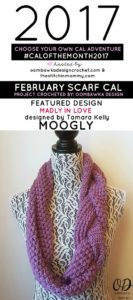 #CALOFTHEMONTH2017 FEBRUARY SCARF CAL FINISHED PROJECT
