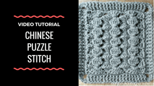 CHINESE PUZZLE STITCH VIDEO TUTORIAL