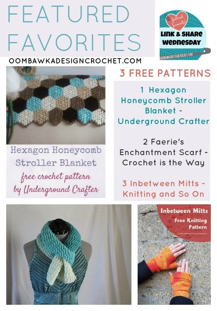 FEATURED FAVORITES Link and Share Wednesday 3 Free Patterns