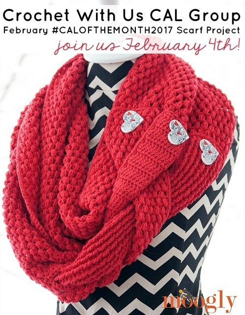 February #CALOFTHEMONTH2017 Scarf Project - Moogly's Madly In Love