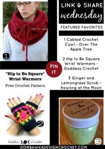 Refreshing DIY Scrub, Granny Square Wrist Warmers and a Stunning Cabled Cowl