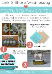 Link and Share Wednesday Featured Favorites - Featuring Atelier Marie-Lucienne, Goddess Crochet and Lalka Crochetka