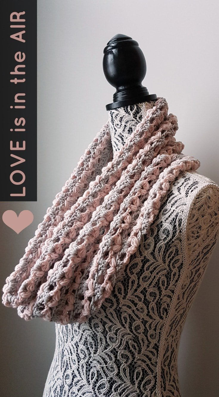 Love Is In The Air Valentines Cowl