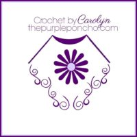 Crochet by Carolyn The Purple Poncho