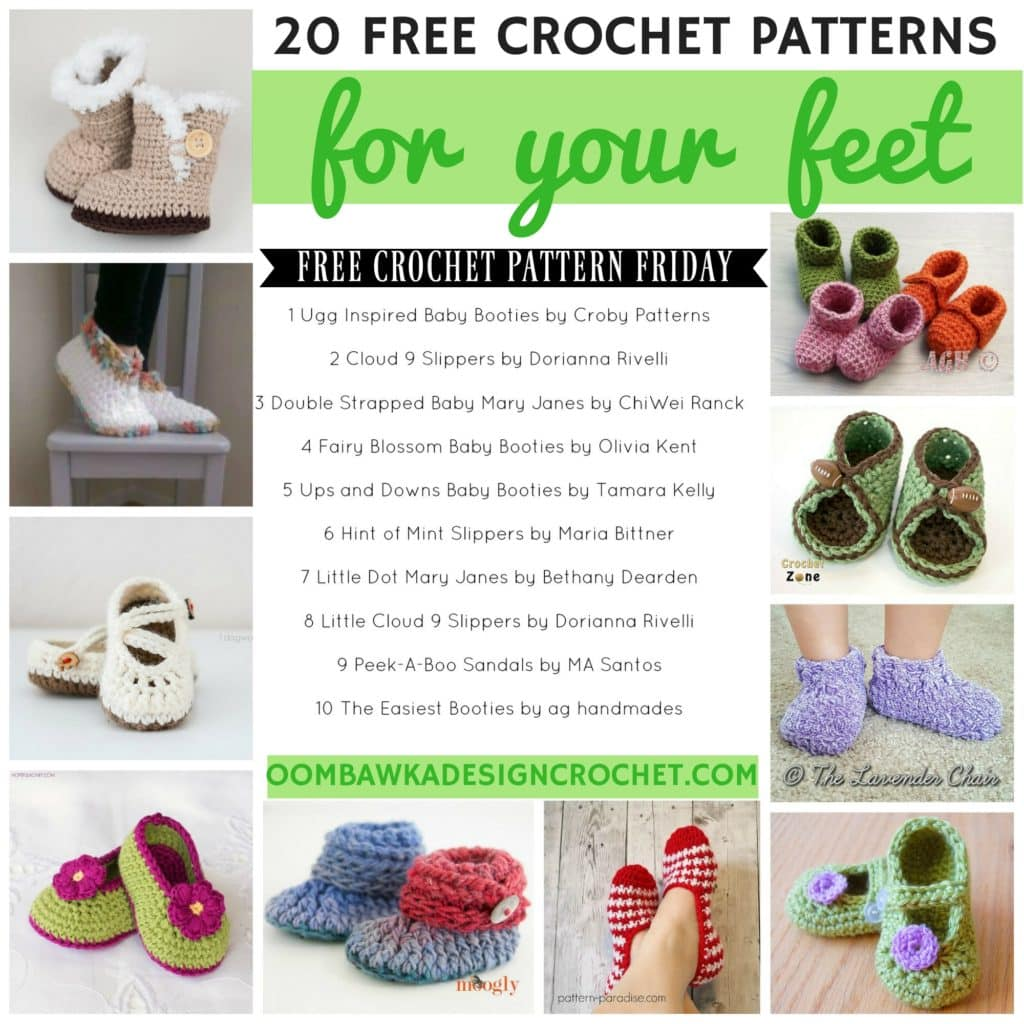 20 FREE Crochet Patterns for Your Feet