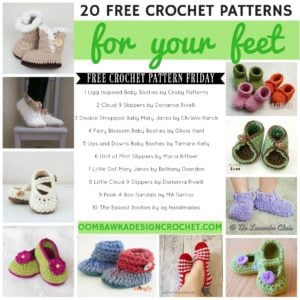 20 FREE Crochet Patterns for Your Feet! Crochet Slippers and Socks Patterns. Oombawka Design Crochet