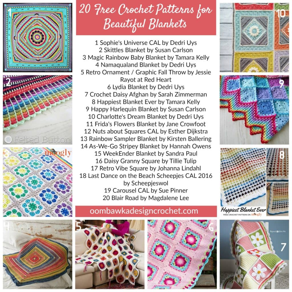 20 Free Crochet Patterns for Beautiful Blankets