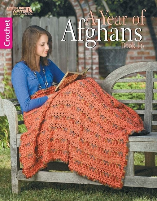 Cover: A Year of Afghans Book 16 - Leisure Arts