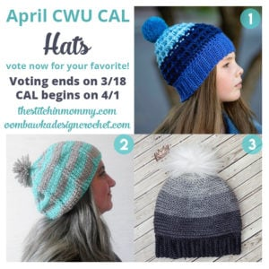 Vote for April's Crochet Hat CAL #CALOFTHEMONTH2017 Now!