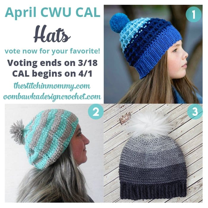 Vote for April\'s #CALOFTHEMONTH2017 Now! Choose Your Own CAL Adventure with Crochet With Us CAL Group on Facebook!