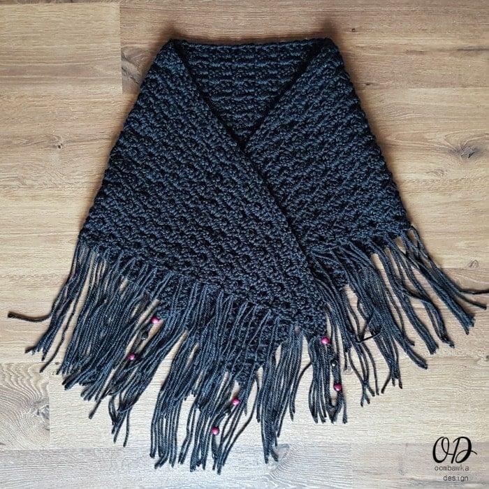 Boho Great Granny Comfort Shawl - Free Pattern - Oombawka Design