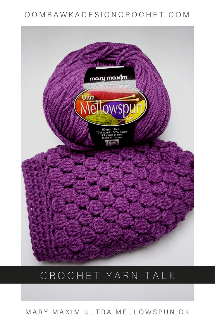 Crochet Yarn Talk - Mary Maxim Ultra Mellowspun DK Take a closer look at this lovely yarn!