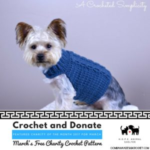 Crochet and Donate Marchs Charity of the Month and Free Charity Crochet Pattern