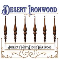Introducing America's Most Dense Hardwood Limited Edition Furls Desert Ironwood Crochet Hook!