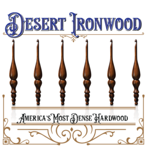 Introducing America's Most Dense Hardwood Limited Edition Furls Desert Ironwood Crochet Hook!