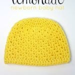 Lemonade Newborn Baby Hat Pattern