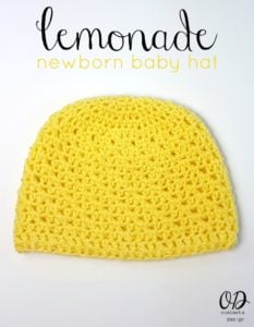 Lemonade Newborn Baby Hat Crochet Pattern