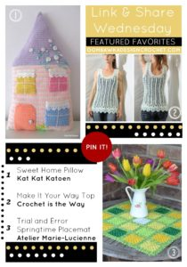 Link and Share Wednesday Featured Favorites - Featuring KatKatKatoen AtelierMarieLucienne and Crochetistheway